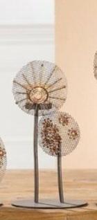"""2x Gilde Metall Teelicht Halter """" Blume 2"""" silber & gold mit Sonne Kerzen Ständer"""