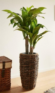 künstliche Yucca Palme 90 cm hoch, Kunst Büro Zier Deko Pflanze