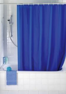 Bad Vorhang wenko duschvorhang uni blue 180x200 bad vorhang blau 12