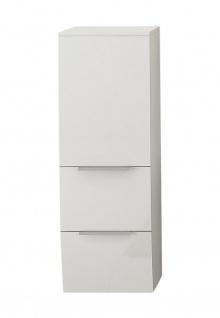 TOMASUCCI Design Bad Hänge Schrank B083 hochglanz weiß, 2 Schubladen + Tür Möbel