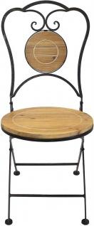Gartenstuhl aus Metall & Holz im Antik Design, Balkon Klapp Stuhl - Vorschau 3