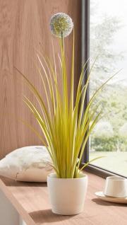 """Kunst Pflanze """" Zierlauch"""" 70 cm hohe künstliche Deko Zier Blume, täuschend echt"""