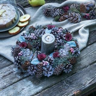 """Tisch Kranz """" Herbstbeeren"""" mit Zapfen Beeren Blüten, Herbst Winter Deko"""