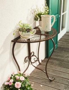 "Metall Beistell Tisch "" Provencal"" Rost Optik, Antik Design, Balkon Blumen Garten"