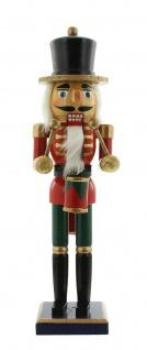 """Nussknacker """" Trommler"""" aus Holz, rot, 36 cm, Advents Weihnachts Deko Figur - Vorschau 2"""