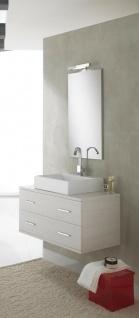 ital. Design Bad Möbel Set GIAVA Waschtisch + Unterschrank Spiegel Beleuchtung