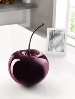 Deko Kirsche hochglanz rot, aus Kunst Stein, Ø 21 cm, Cherry Obst Frucht Figur