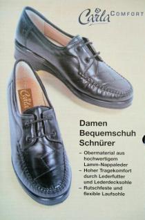 bequeme Damen Halbschuhe ECHT LEDER schwarz Gr. 37, Schnürschuhe Schuhe