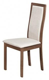 2er Set Stühle EVERY von TUONI aus Holz + Stoff, Küchen Esszimmer Polster Stuhl