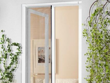 Insekten Schutz Tür Rollo anthrazit OHNE Alu Rahmen weiß 2.Wahl Fliegen Gitter