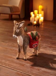 Figur 'Weihnachtsesel? Weihnachten Weihnachtsdeko Deko Figur Esel Textil