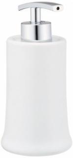 3tlg. Wenko Bad Set Slope Keramik Weiß Seifenspender Zahnputzbecher Seifenschale - Vorschau 2
