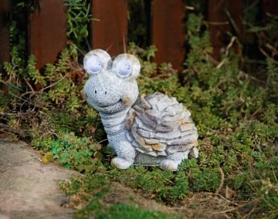 """Solar LED Figur """" Schildkröte"""" Stein Optik, Garten Deko Lampe Leuchte Beleuchtung"""