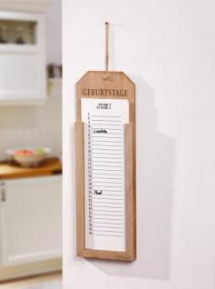 "Memo Board "" Geburtstage"" aus Holz, Wand Dauer Kalender Notitz Pinn Tafel"