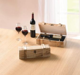 """Weinkiste """" Rustikal"""" aus Holz, Geschenk Box für 1 Flasche Wein, Deko Truhe Kiste"""