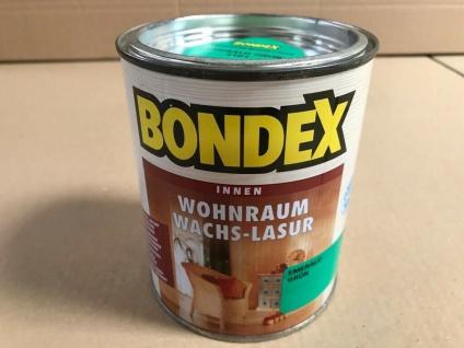 3 Liter Bondex Wohnraum Wachs Lasur, emerald grün, 4x 0, 75 L, Holz Schutz