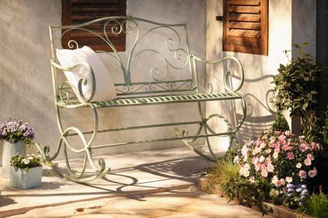 Schaukel Bank aus Metall, grün, Antik Look, Garten Hänge Sessel Stuhl Aussen