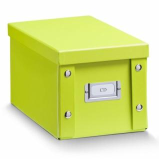 2x ZELLER CD BOX mit DECKEL grün für 20 CD's AUFBEWAHRUNG KISTE KARTON CASE
