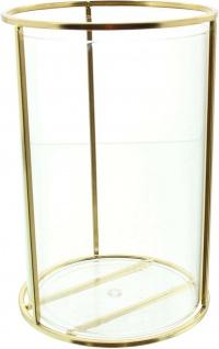 Vase aus Metall & Glas, gold, Windlicht Kerzen Halter Ständer Blumenvase - Vorschau 3