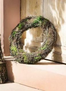 """Deko Kranz """" Moos"""" aus Birkenreisig, Natur Tür Tisch Wand Garten Dekoration"""