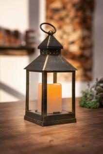 LED Laterne 'Tanzende Flamme? Windlicht Lampe Leuchte Garten Deko Innen Kerze