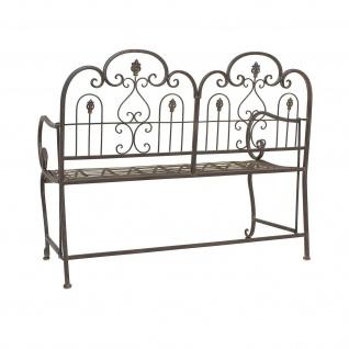 "Sitzbank "" Provence"" aus Metall, braun im Antik Design, Gartenbank, Parkbank - Vorschau 5"