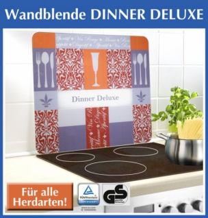 wenko glas schneidbrett dinner deluxe 50x56 cm neu herd abdeckplatte wandblende kaufen bei. Black Bedroom Furniture Sets. Home Design Ideas