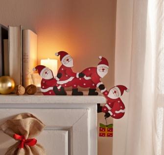 """Kanten Hocker """" Santas"""", Weihnachts Mann Figuren Sitzer Advents Deko Weihnachten"""