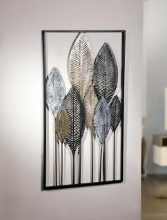 "Metall Bild ?Blätterwald"" Wand Deko Schmuck Hänger Dekoration Verzierung"