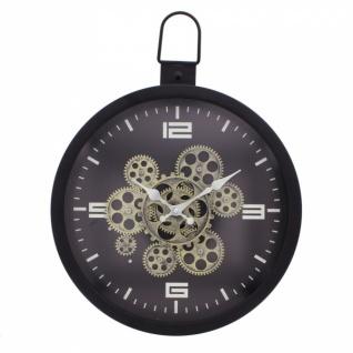 Metall Uhr 'Clock Work? Wand Deko Modern Küche Wohnzimmer batteriebetrieben Büro - Vorschau 2