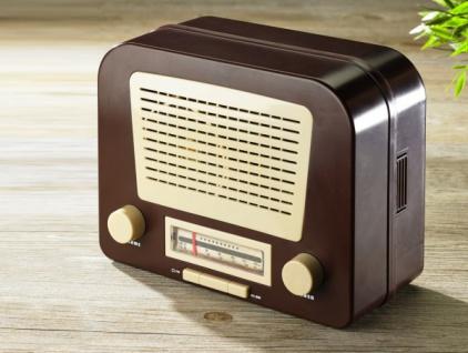 RETRO NOSTALGIE RADIO mit GEHEIMFACH SAFE TRESOR VERSTECK GELDKASSETTE