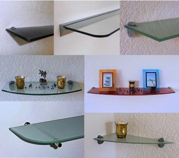 Glasregal CLARO Wandregal Größe / Farbe wählbar Badregal Glas Ablage Wand Regal