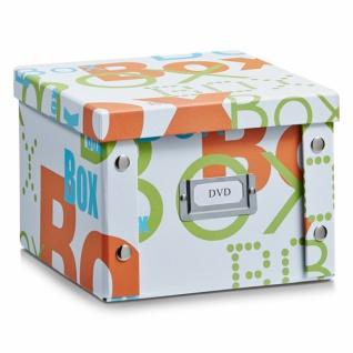 """2x Zeller Dvd Box Mit Deckel """" Box"""" Für 26 Dvd's Aufbewahrung Kiste Karton Case - Vorschau"""