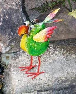 Figur Crazy Bird Klein Metall Bunt Vogel Tierfigur Garten Teich Dekoration Neu - Vorschau 2