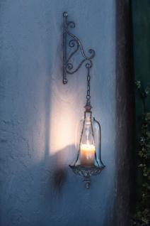 2tlg. Hänge-Laterne 'Nostalgie? Windlicht Deko Kerzen Halter Ständer Garten