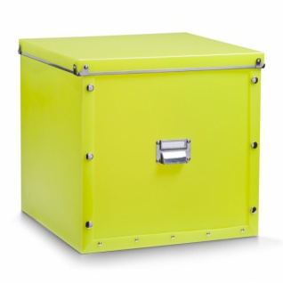 Zeller Kunststoff Aufbewahrungs Box mit Deckel in grün, Kiste 33, 5x33x32 cm