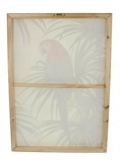 "Wand Bild ?Papagei"" Leinwand Poster im Holz Rahmen Deko Schmuck Hänger"