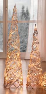 2er led kegel 39 perlenschnur 39 rattan innenbereich stimmungslicht weihnachten neu kaufen bei. Black Bedroom Furniture Sets. Home Design Ideas