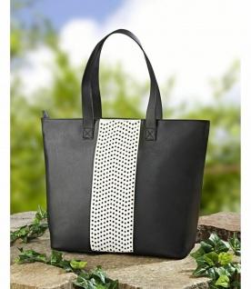 Damen Shopper schwarz / weiß Trage Einkaufs Trage Bade Strand Hand Tasche groß