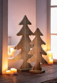 Tanne aus Treibholz, 64 cm hoch, Weihnachts Tannen Baum Holz Deko Figur