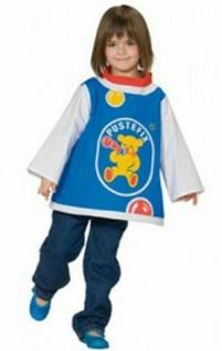 Original PUSTEFIX T-Shirt Gr. 140 Kinder Faschings Kostüm Kleid Seifenblasen