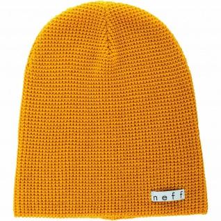 NEFF Quill Beanie, Mütze Mustard senf gelb, Universal Größe, Unisex, Strickmütze