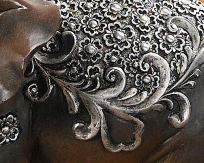 "Deko Figur "" Indischer Elefant' Polystein Deko Statue Asia Skulptur Tierfigur Neu - Vorschau 2"