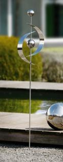 """Garten Stecker """" Spiegelglanz"""" aus Metall, 118 cm hoch, Blumen Beet Deko Sticker"""