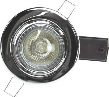 3 er Set Heitronic Einbau Strahler chrom, GU10 50W Halogen Lampen Strahler Spot