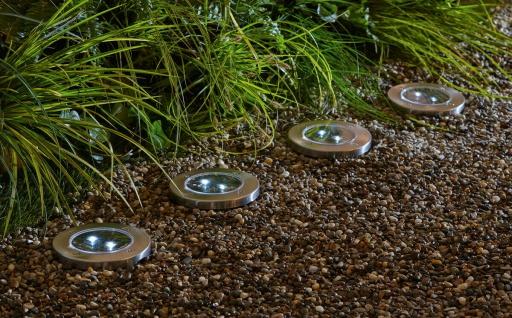 2 Stück Solar LED Boden Leuchte, mit Erdspieß, Garten Weg Beleuchtung Lampe