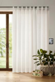 Deko-Schal 'Light? 245 x 140cm weiß Fenster Vorhang Gardine Schlaufen Schal