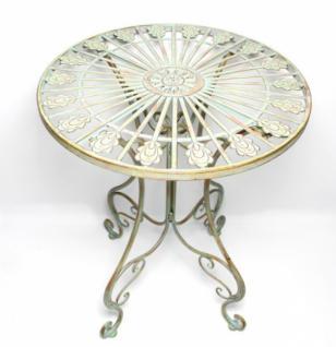 Metall Tisch Pfauenauge Gartentisch Antik Gartenmobel Terasse