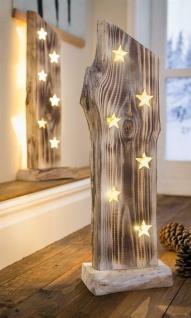 """Holz Deko Objekt """" Sternenleuchten"""" mit LED Beleuchtung, Skulptur Figur Leuchte"""
