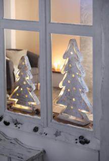 """LED Leuchte """" Tanne"""" aus Holz, Weihnachts Winter Fenster Deko, Batterie betrieben"""